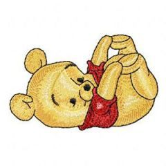 Baby Pooh 4 embroidery design