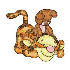 Baby Tigger Playing embroidery design
