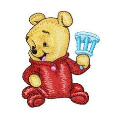 Baby Pooh 6 embroidery design