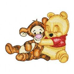 Baby Pooh and Baby Tigger embroidery design 2