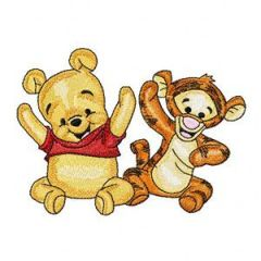 Baby Pooh and Baby Tigger 3 embroidery design