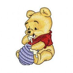 Baby Pooh 2 embroidery design