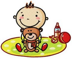 Baby's playtime 2 embroidery design