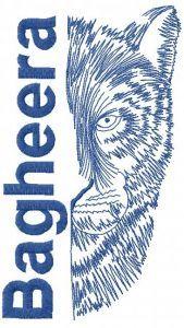 Bagheera embroidery design 2
