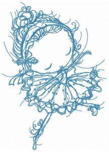 Ballerina dancing embroidery design