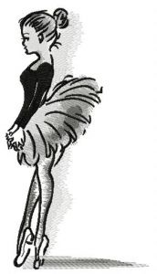Ballet classes embroidery design