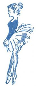 Ballet classes one color embroidery design