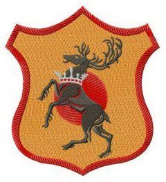Baratheon shield embroidery design