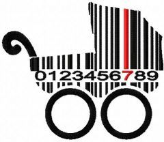 Buggy barcode embroidery design