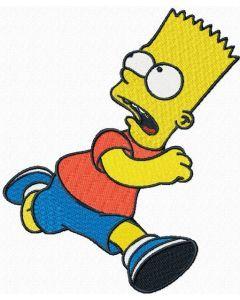Bart Simpson running embroidery design