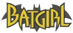 Batgirl silhouette embroidery design