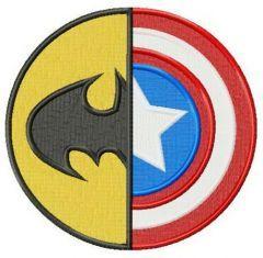 Batman or Captain America embroidery design