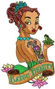 Bayou Beauty 2 embroidery design
