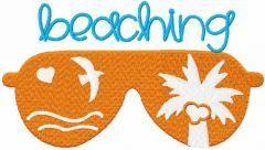 Beaching free embroidery design