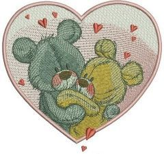 Bear's dance embroidery design
