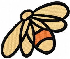 Bee 4 embroidery design