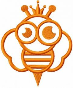 Bee king embroidery design