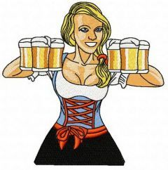 Beer girl 10 embroidery design