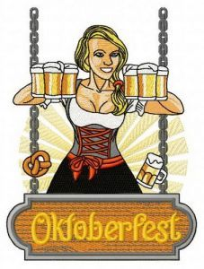 Beer girl 8 embroidery design