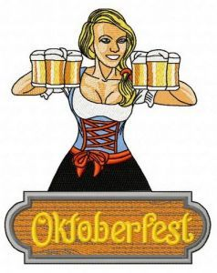 Beer girl 9 embroidery design