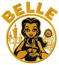 Belle embroidery design