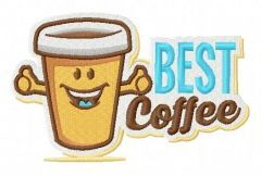 Best coffee embroidery design