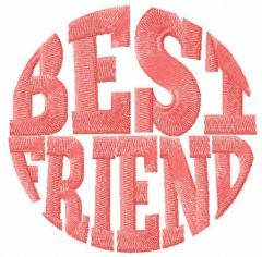 Best friend free embroidery design