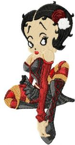 Betty Boop Sexy embroidery design