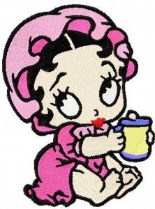 Betty Boop baby embroidery design
