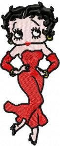 Betty Boop dancing embroidery design