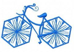 Bicycle machine embroidery design 3