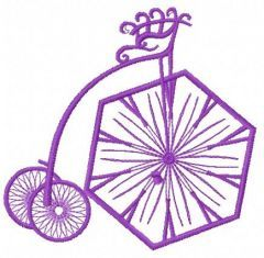 Bicycle machine embroidery design 4