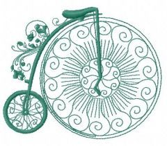 Bicycle machine embroidery design