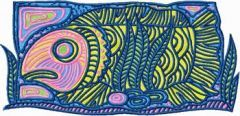 Big Fish embroidery design