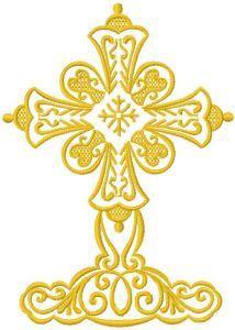 Big cross embroidery design