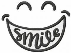 Big smile free embroidery design