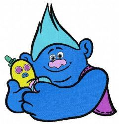 Biggie and Mr. Dinkles embroidery design 2