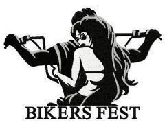 Biker's fest embroidery design