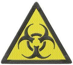 Biohazard road symbol machine embroidery design