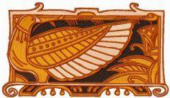 Bird guard embroidery design