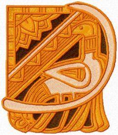 Bird pyramid spirit embroidery design