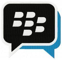Blackberry Messenger logo machine embroidery design
