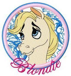 Blondie machine embroidery design 2