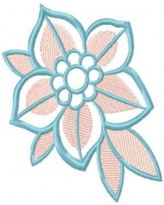 Cherry blossom flower embroidery design