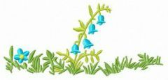 Blue bellflower embroidery design