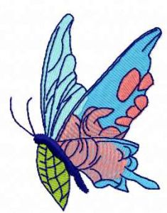 Blue butterfly 2 embroidery design