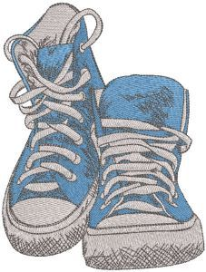 Blue cross shoes embroidery design