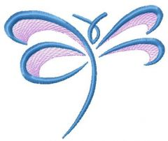 Blue dragonfly 2 embroidery design