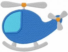 Blue helicopter free embroidery design