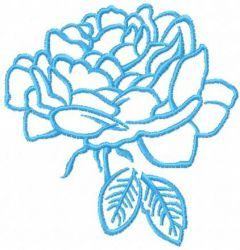 Blue rose 3 embroidery design
